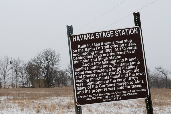 Havana state station historical sign