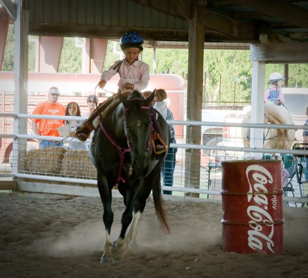 Goat tail tying at the Lyon County Fair, kansas