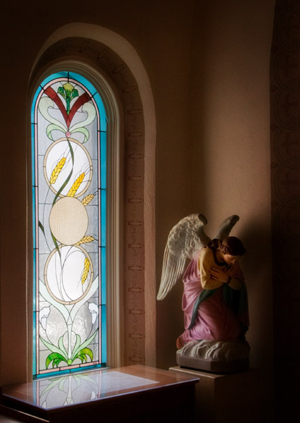 Stained Glass at St. Elizabeth's Church, Eureka Springs, Arkansas