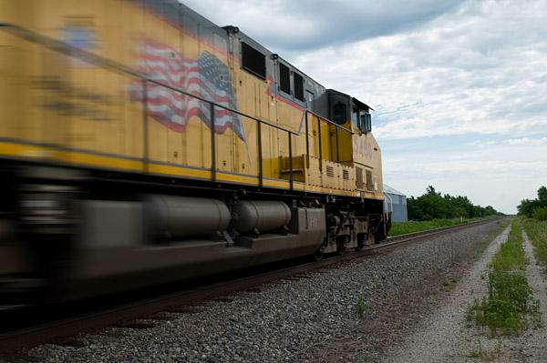 locomotive at Latimer, Kansas